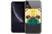 Caseink Coque crystal gel apple iphone xr (6.1 ) extra fine polygon animals - chien
