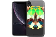 Caseink Coque crystal gel apple iphone xr (6.1 ) extra fine polygon animals - raton laveur