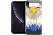 Caseink Coque crystal gel apple iphone xr (6.1 ) extra fine polygon animals - aigle