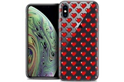 Caseink Coque crystal gel apple iphone xs max (6.5 ) extra fine love - pixel art