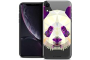 Caseink Coque crystal gel apple iphone xr (6.1 ) extra fine polygon animals - panda