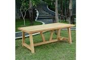 Teck'attitude Table en teck effet recyclé 250 cm cheverny