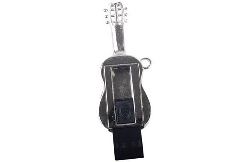 Prixwhaou Clé usb -guitare collier de style usb 2.0 flash disk, 4 go (argent)