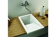 Indusa Bac à laver riba - dimensions : 39 x 60 cm - profondeur de la cuve : 34 cm - couleur : blanc