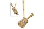 Prixwhaou Clé usb -guitare collier de style usb 2.0 flash disk, 4 go (d'or)