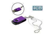 Prixwhaou Clé usb -mini rotatif disque flash usb (4 go), violet