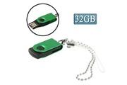 Prixwhaou Clé usb -mini rotatif usb flash disk (32 go), vert