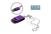 Prixwhaou Clé usb -mini rotatif usb flash disk (32 go), violet
