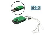 Prixwhaou Clé usb -mini rotatif disque flash usb (4 go), vert