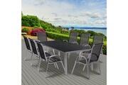 Idmarket Ensemble de jardin madrid table 190 cm et 8 chaises empilables