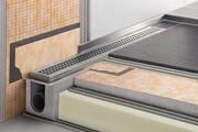 Schluter Caniveau pour douche à l'italienne, sortie horizontale kerdi-line-h - caniveau inox 80 cm hauteur 40 sortie horizontale