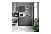 AUCUNE Eco buffet de cuisine l 120 cm - gris mat