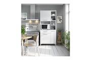 AUCUNE Eco buffet de cuisine l 80 cm - blanc brillant