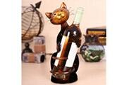 Prixwhaou Étagère-lion vin titulaire étagère à vin sculpture en métal pratique décoration de la maison intérieur artisanat