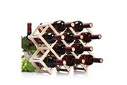 Prixwhaou Étagère-10 bouteilles bouteilles support à vin pliable support à vin en bois support de cuisine bar étagère