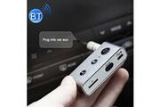 Prixwhaou Transmetteur fm-bt710 portable mini voiture bluetooth 4.2 edr usb recharge audio récepteur, soutien tf carte, distance effective: 10m