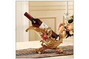 Prixwhaou Étagère-rétro eau porte-bouteilles de vin de résine européenne processus de résine porte-bouteille de vin décoration de la maison intérieur artisanat