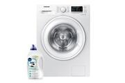 Samsung Lave-linge frontal 8kg a+++ 1400trs/min tambour 63l ecobubble machine à laver hublot ww80j5556dw