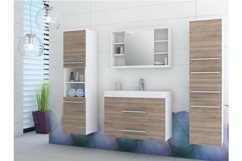 Shower Design Ensemble marylin - meubles de salle de bain - beige et blanc