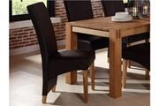 Vente-unique Lot de 2 chaises pavie - simili chocolat pieds bois clair