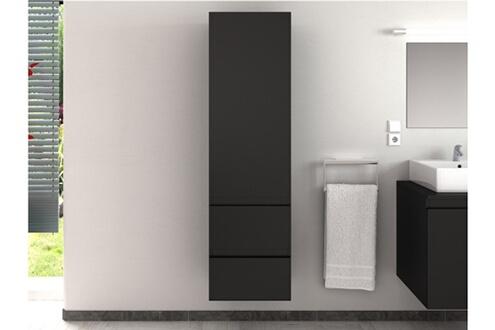 Vente-unique Colonne de salle de bain lavita - gris mat