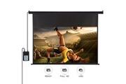 Excelvan Ecran de projecteur motorisé télécommande hd 120 pouces 16:9 1.2 gain pour maison bureau