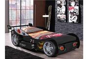 Vente-unique Lit voiture runner avec tiroir - 90x200 cm - noir