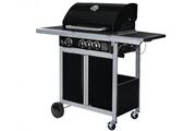 Vente-unique Barbecue à gaz en acier époxy regal - 3 brûleurs + 1 latéral