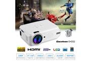 Excelvan Excelvan videoprojecteur portable mini led multimedia 800*480 1080p support eu blanc