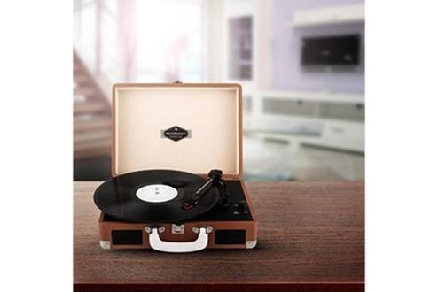 Auna Peggy Sue Platine vinyle rétro LP USB -marron