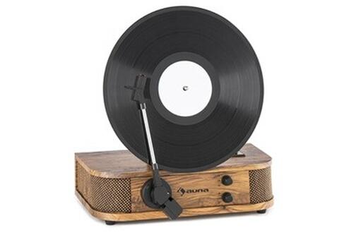 Auna Verticalo S Tourne-disque au design rétro Plateau de disque vertical USB MP3