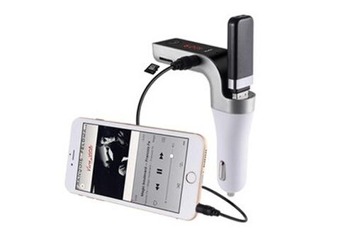 Tbs Tbs3162 transmetteur de musique vers autoradio en fm via bluetooth du téléphone ou carte sd ou clé usb - & chargeur (port usb 2,5a) - & kit main-libre