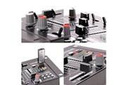 Ibiza Sound Table de mixage - 4 Voies - 7 Canaux USB/MP3 + Microphone à main noir/silver