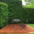 Maisonetstyles Ensemble table + 2 chaises de jardin en métal noir - yutan