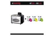 H.koenig Turbine à glace hf250 + set de 3 bols supplémentaires