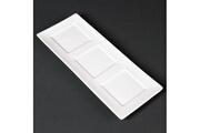 Materiel Chr Pro Plateaux en porcelaine fine 300 x 120 mm lumina - boite de 6