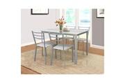 Price Factory Table de cuisine et salle à manger + 4 chaises athenes gris et sonoma.