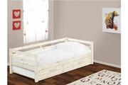 Vente-unique Lit gigogne aedan - 90x190cm - pin massif - blanchi