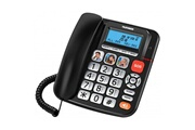 Telefunken Téléphone senior telefunken tf 801 cosi filaire noir bouton sos