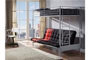 Vente-unique Lit mezzanine modulo iv - 90x190cm - coloris argent