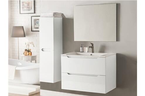 Vente-unique Ensemble stefanie - meubles de salle de bain - laqué blanc