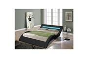 No-name Structure de lit venus lit adulte avec led contemporain noir + sommier - l 160 x l 200 cm