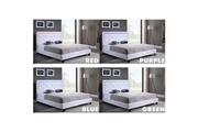 Icaverne Icaverne structure de lit filip lit adulte contemporain simili blanc - sommier et tete de lit avec led inclus - l 140 x l 190 cm