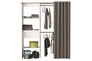 No-name Dressing - kit amenagement de placard chicago kit dressing extensible contemporain blanc perle - l 114 -168 cm