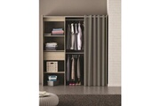 No-name Dressing - kit amenagement de placard chicago kit dressing extensible contemporain décor chene brossé - l 114 -168 cm