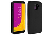 FORCELL Coque samsung galaxy j6 protection antichocs porte-carte forcell wallet noir