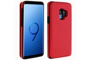FORCELL Coque samsung galaxy s9 protection antichocs porte-carte forcell wallet rouge