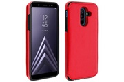 FORCELL Coque galaxy a6 plus protection antichocs porte-carte forcell wallet rouge