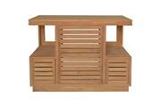 No-name Salle de bain complete oasis ensemble salle de bain en bois teck massif simple vasque l 105 cm - bois naturel