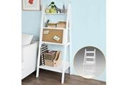 Sobuy Bureau table étagère murale style échelle de 3 tablettes, 1 plan de travail rabatable et 1 memo board -blanc frg115-w sobuy®